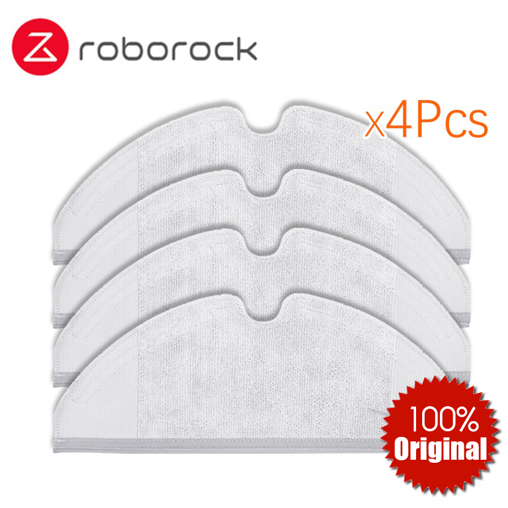 4Pcs Original Roborock S50 S51 Parts Mop Cloths For Xiaomi Vacuum Cleaner Generation 2 Dry Wet Mopping Cleaning