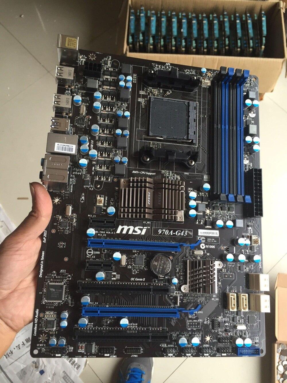 D'origine carte mère MSI 970A-G43 DDR3 Socket AM3/AM3 + 32 GB USB3.0 USB3.0 970 Bureau motherborad Livraison gratuite