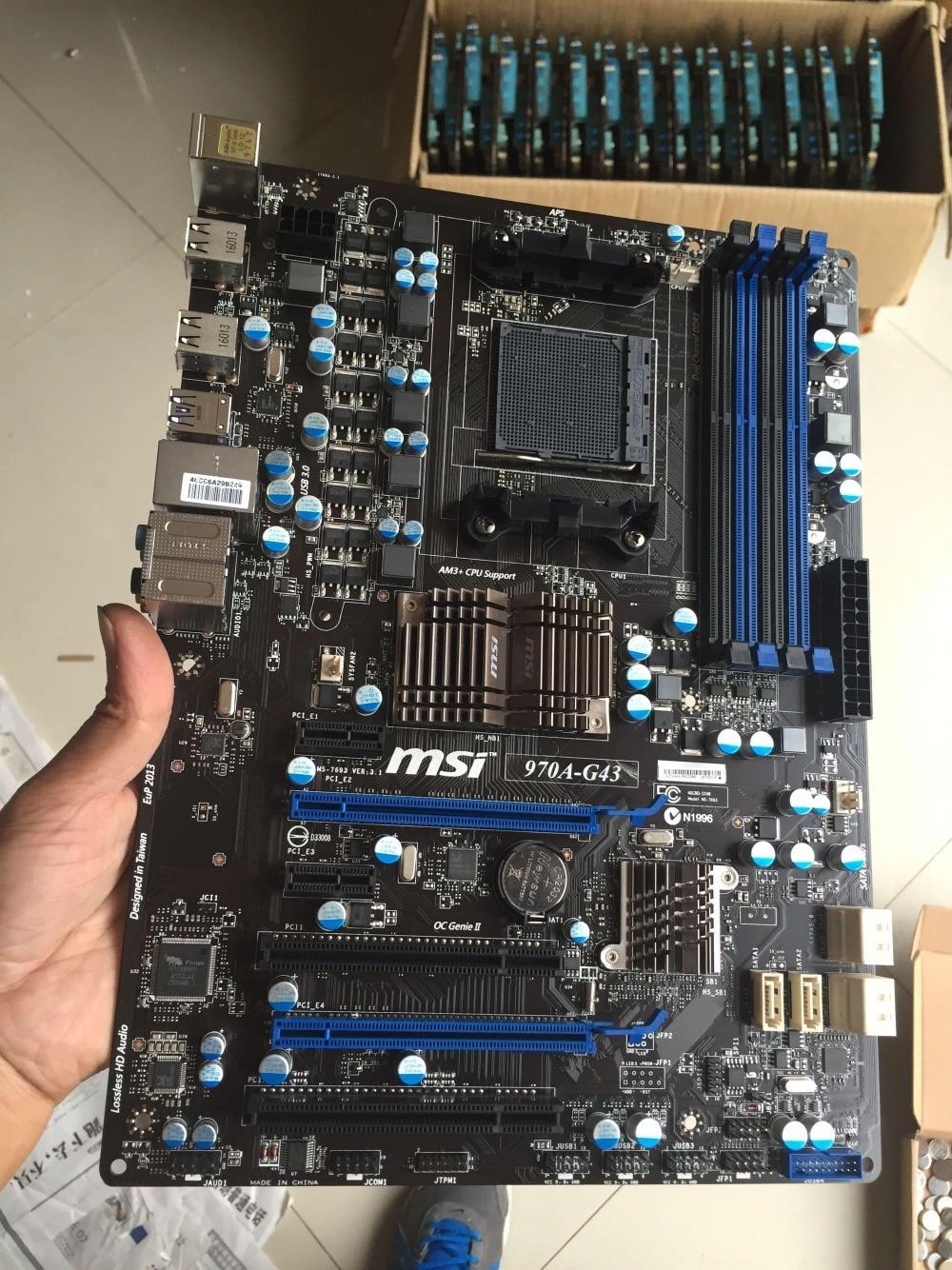 original motherboard MSI 970A-G43 DDR3 Socket AM3/AM3+ 32GB USB3.0 USB3.0 970 Desktop motherborad Free shipping