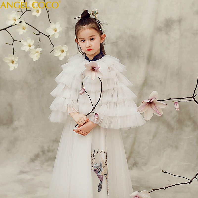Baby Girls Party Gown Elegant Girl Long Evening Dress For Wedding Ceremony Kids Dresses Princess Dress For Teen Girls Clothes girls fall dress kids dresses for girls long sleeve children teen clothes autumn 2018 linen girl elegant princess dress vestidos