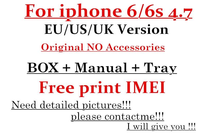 Цена за 5 шт./лот Высокое качество США/ЕС/Великобритания версия телефон Упаковка Коробка Чехол для iPhone 6 S 4.7 ''без Аксессуары Box