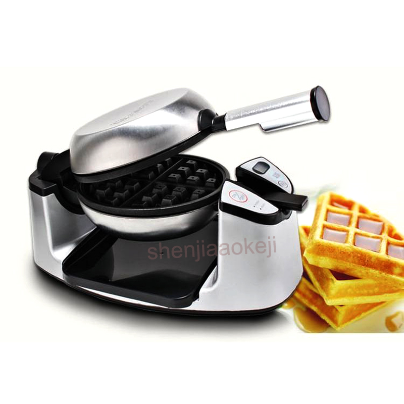 1pc Waffle machine Electric Kitchen household appliance 180 degree rotating pancake machine Muffin Meal Cake Waffle Stove 220v free shipping electric with recipe for waffle machine can 180 rotating 4 pcs