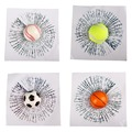 3D Etiquetas Engomadas Divertidas Del Coche Auto Pelota Golpea Body Car Window Sticker Decal Accesorios de Tenis de Béisbol