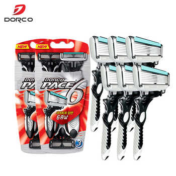 6 Pcs/lot 6-Layer Blades Original Dorco Razor for Men High Quality Razor Men Shaving Stainless Steel Safety Razor Blades - DISCOUNT ITEM  20 OFF Beauty & Health