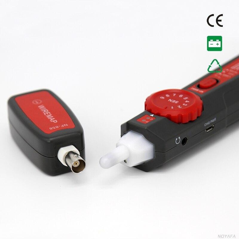 NOYAFA livraison gratuite NF-858C testeur de câble générateur de tonalité scanner RJ45 & BNC - 3