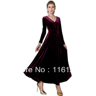 4c9118b8497fba Bordeaux Rode Lange Fluwelen Party Avondjurk Maxi Dress Gown Plus maten in  Bordeaux Rode Lange Fluwelen Party Avondjurk Maxi Dress Gown Plus maten van  ...
