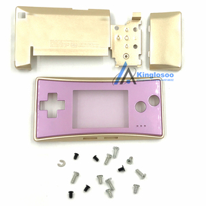 Image 5 - 5 Colors Metal Housing Shell case for Nintendo Gameboy Micro GBM front back Cover Faceplate Battery Holder w/ Screw