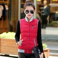2017 spring New style slim cotton down cute vest waistcoat outerwear short design fashion female big size baseball Vest