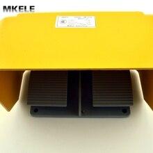 MKYDT1-20 дешевые алюминиевого сплава 15A универсальный горячие продажи сертификат CE твин двухместный dual foot switch педаль с NO + NC контакт