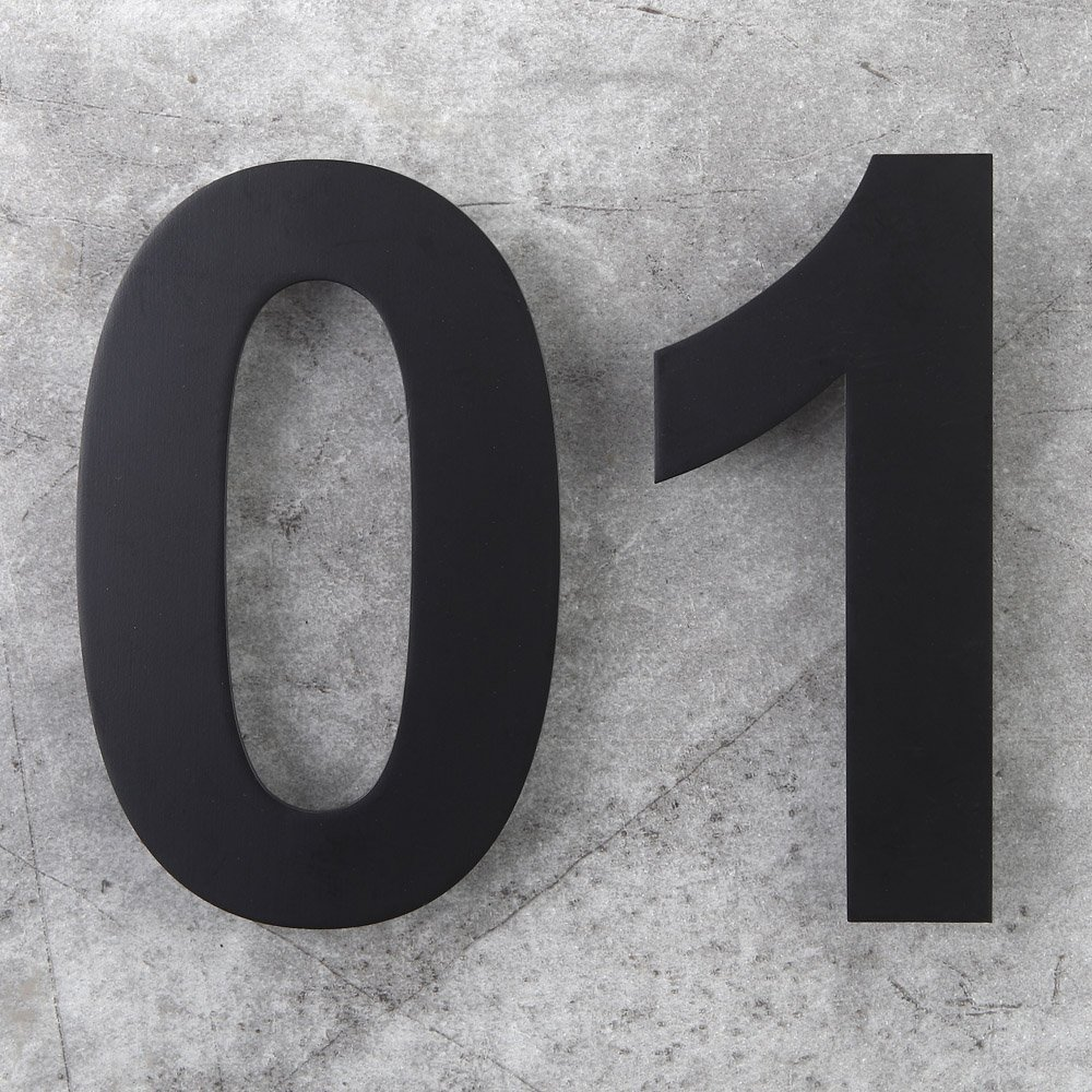 12 Inch Floating House Numbers Door Sign Mounted Stainless Steel 18 8 Matte Black
