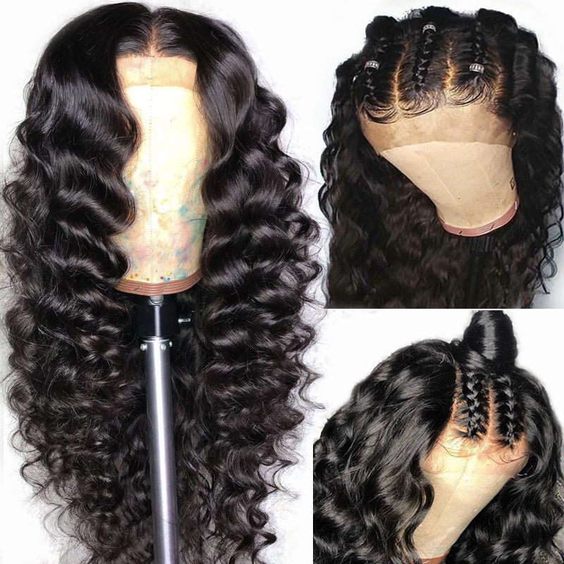 Yyong Hair Pre Plucked Full Lace Human Hair Wigs With Baby Hair Loose Deep Brazilian Lace