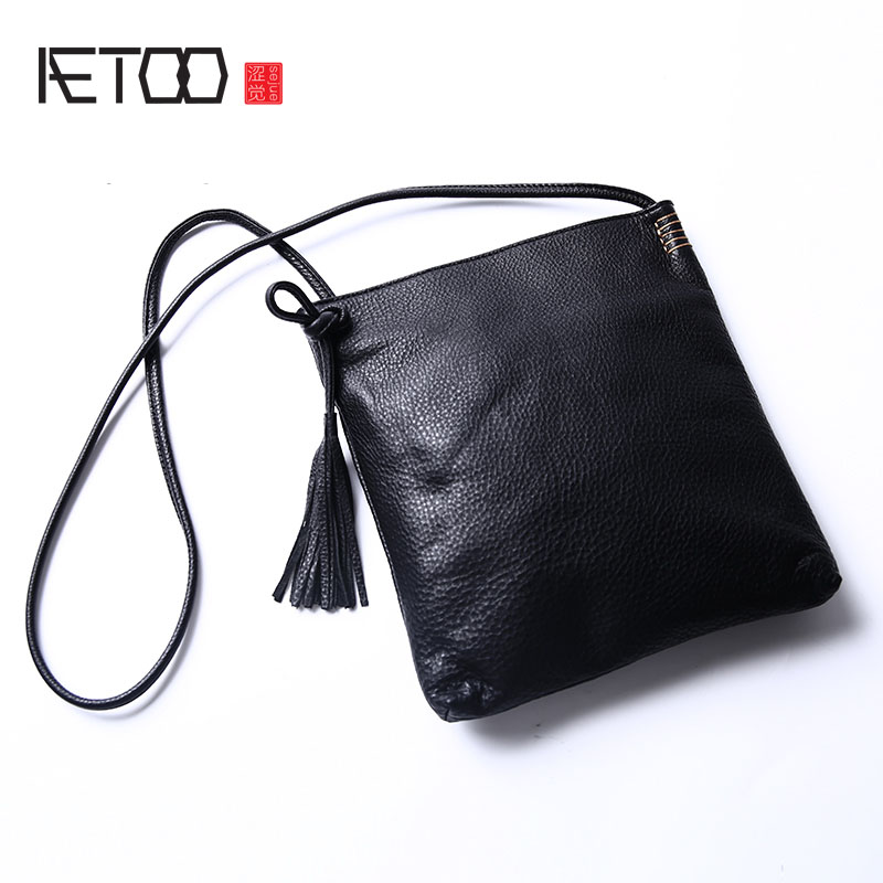 AETOO Women 's new front layer leather retro large - capacity package soft leather envelope bag leather simple shoulder Messenge