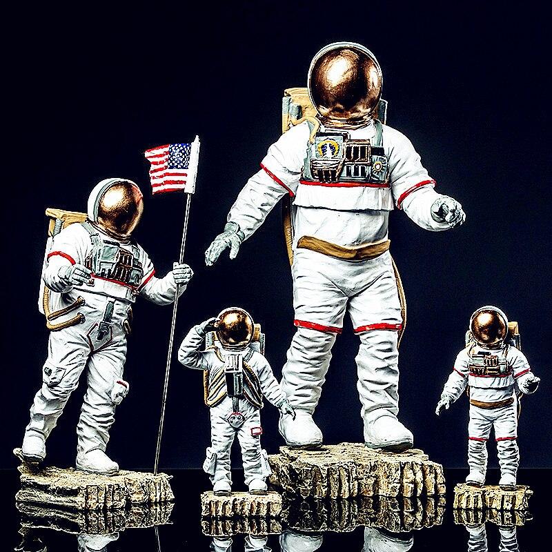 Spazio Uomo Americano Astronauta Modello Creativo Cosmonauta Statua di Modo Nord Europa Decorazioni Per La Casa In Resina Art & Craft L2698