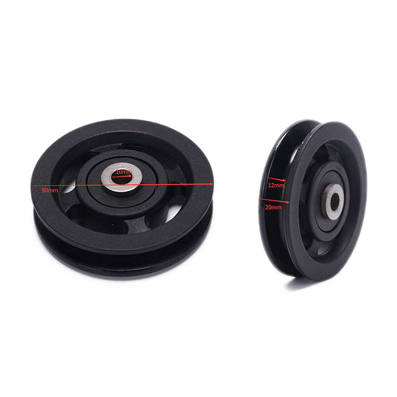 50/90mm Wearproof Nylon Bearing Pulley Wheel Cable Gym Universal Fitness Equipment Part High Quality Bearing Pulley