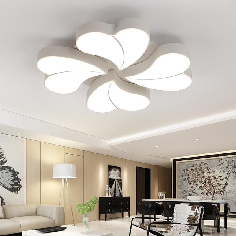 DIY Flower LED Ceiling Light Modern Living Room Ceiling ...