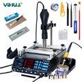 YIHUA 853AAA паяльная станция наладочная станция bga 3 в 1 Подогрев горячего воздуха пистолет паяльник Сварка PCB набор инструментов для демонтажа