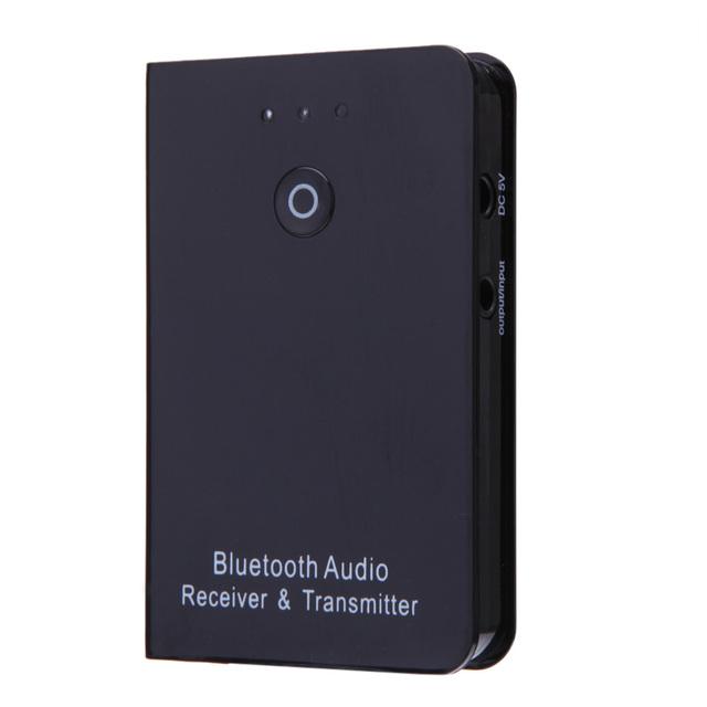 2016 Transmisor y Receptor Inalámbrico 3.5mm Bluetooth Inalámbrico A2DP Adaptador de Audio negro
