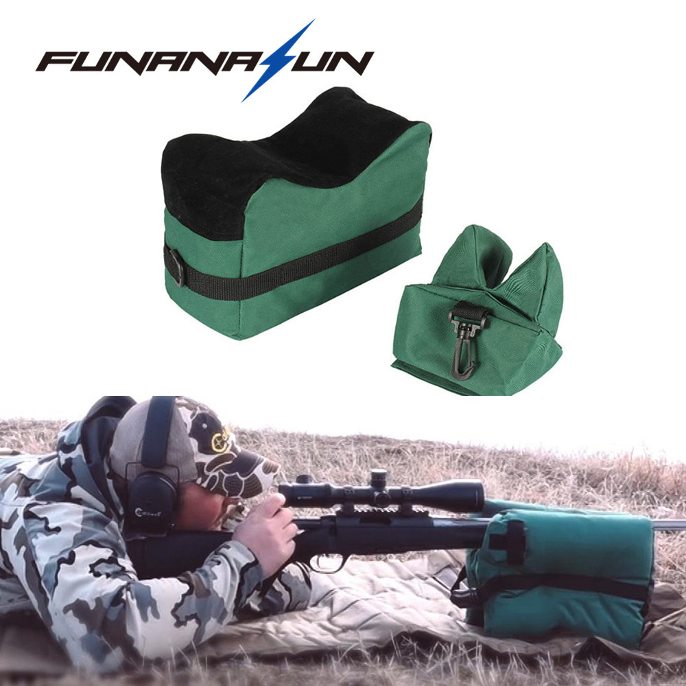 Sniper Shooting Bag Gun Front Rear Bag Rest Target Stand Rifle Support Sandbag Bench Unfilled Outdoor Tack Driver Bag