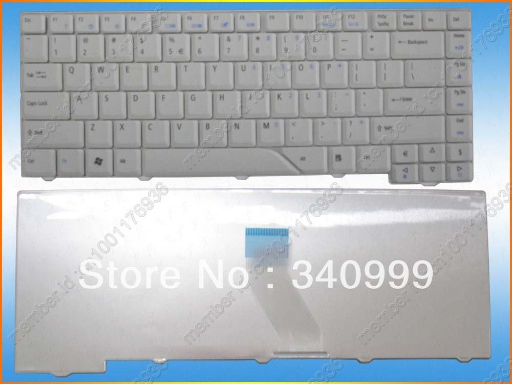 Free Shipping new keyboard for <font><b>Acer</b></font> <font><b>Aspire</b></font> 4220 4220G 4310 4320 4520 4520G <font><b>4920</b></font> 4920G white us version laptop keyboard image