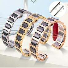 Ремешок из керамики и нержавеющей стали для samsung galaxy watch