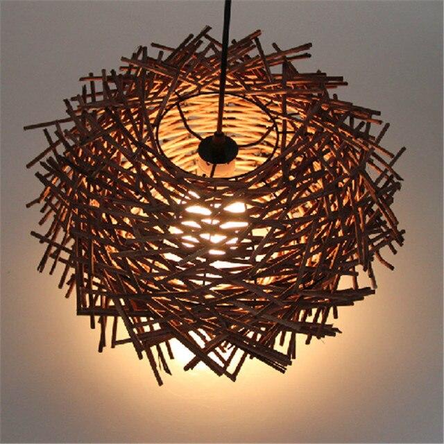 moderne hauptdekoration kunst birds nest pendelleuchte wolle vintage schlafzimmer lampe kreative. Black Bedroom Furniture Sets. Home Design Ideas