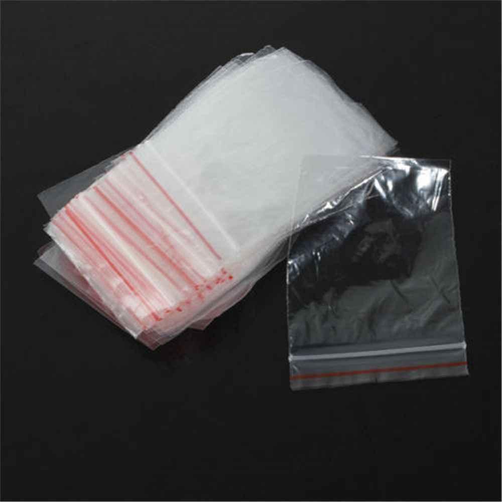 Bolsas transparentes de plástico con cierre de cremallera y cierre automático de 100 Uds. Bolsa transparente cierre hermético de 4x6/5x7 cm para embalaje organizador de joyas