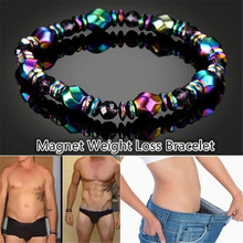 1pcs Weight Loss Anklet Slimming Bracelet Magnetic Effective Stimulating Acupoints Therapy Arthritis Pain Relief Black Gallstone