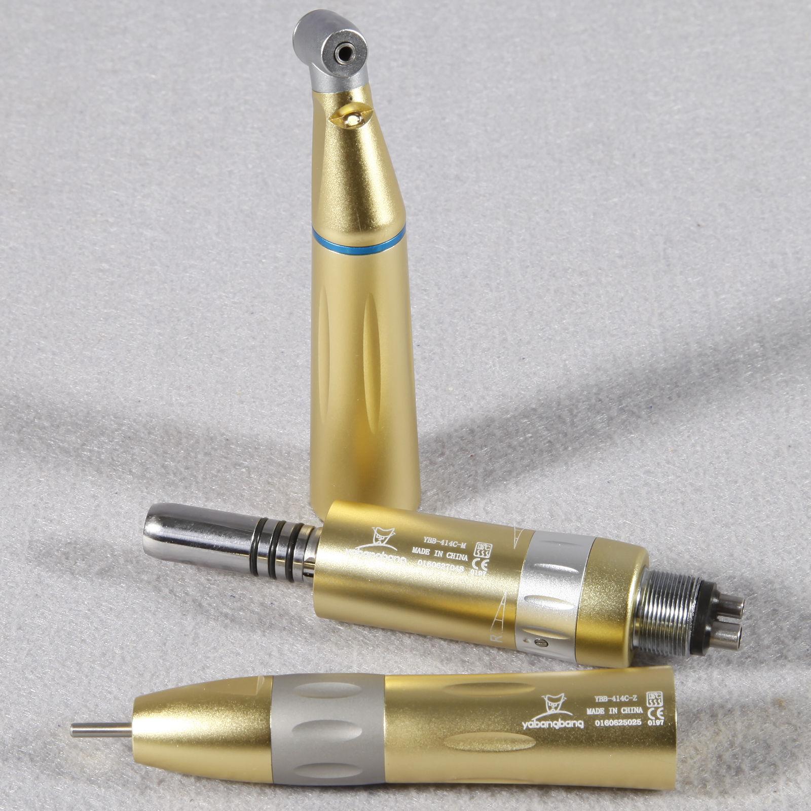 Kavo Style Dental LED Internal Low Speed Handpiece Kit E generator 4 Hole Gold Y