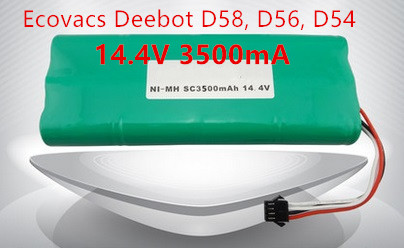 Ecovacs deebot Vacuum Battery 3500mAh 14.4V for Ecovacs Deebot D54 Deepoo D56 D58 Deepoo 540 550 560 570 580 Free Shipping 3500mah 14 4v cleaner battery for ecovacs deebot d54 deepoo d56 d58 with free side brush
