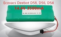 Ecovacs Deebot Vacuum Battery 3500mAh 14 4V For Ecovacs Deebot D54 Deepoo D56 D58 Deepoo