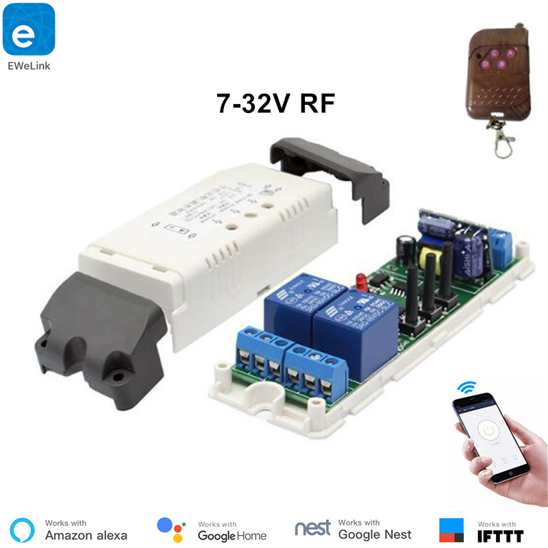 EweLink Smart home WiFi <font><b>RF433</b></font> 2 channel switch inching interlock selflock wifi <font><b>module</b></font> app control remote relay DIY Smart Home image