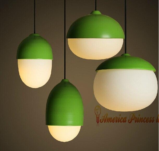 Nordic buffet restaurant study bedroom nuts droplight, E27, material: iron/glass/ABS, AC110-240V. мистерия buffet красная