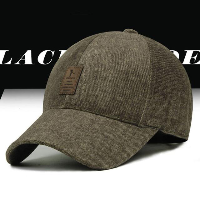 d5352be4e94 Kioninai 2017 Cotton Baseball Cap Warm Winter Sports Golf Snapback Outdoor  Hats EDIKO Logo 4 Color For Men Bone Gorras Casquette