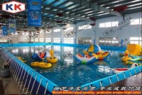 giant metal frame pool inflatable water amusement park water park projects aqua park plan
