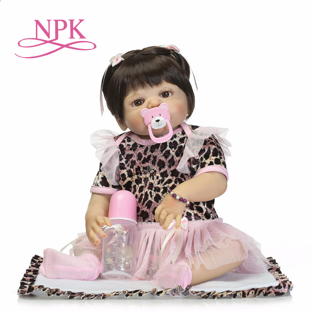 NPK full silicone vinyl body reborn baby girl dolls soft silicone vinyl real gentle touch bebe reborn new born real baby Gift цена