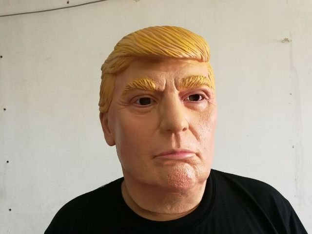 cool trump party mask halloween face fool party mask head latex creepy scary april fools day - Cool Masks For Halloween
