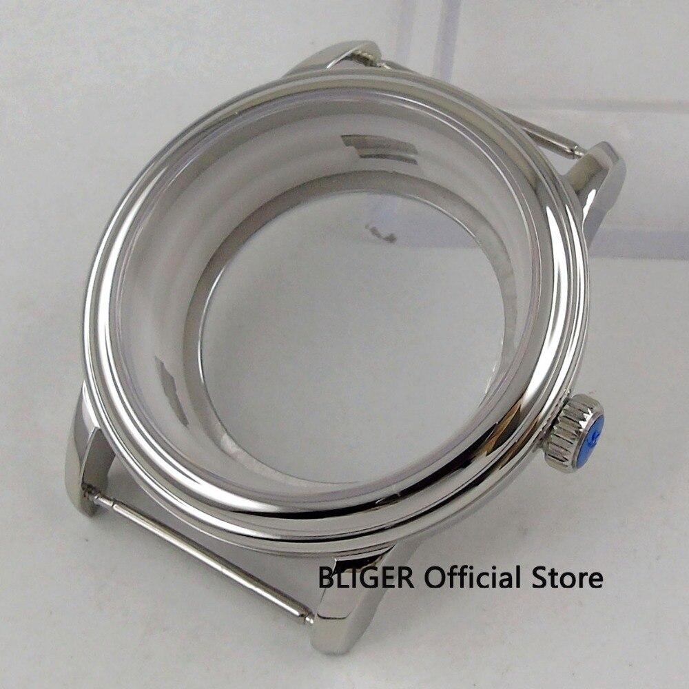 40mm Bliger Sapphire Glass Steel Watch Case eta 2836 Miyota 8205 8215 Movement Watch Case101