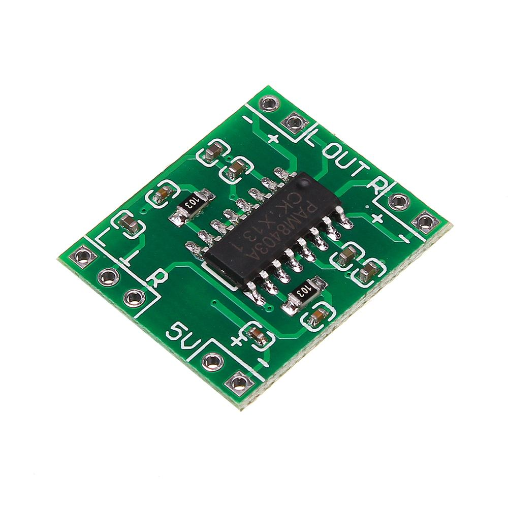 CLAITE Mini DC 5V 2x3W PAM8403 Class D Audio Digital Power Amplifier Board USB Amplifier Module