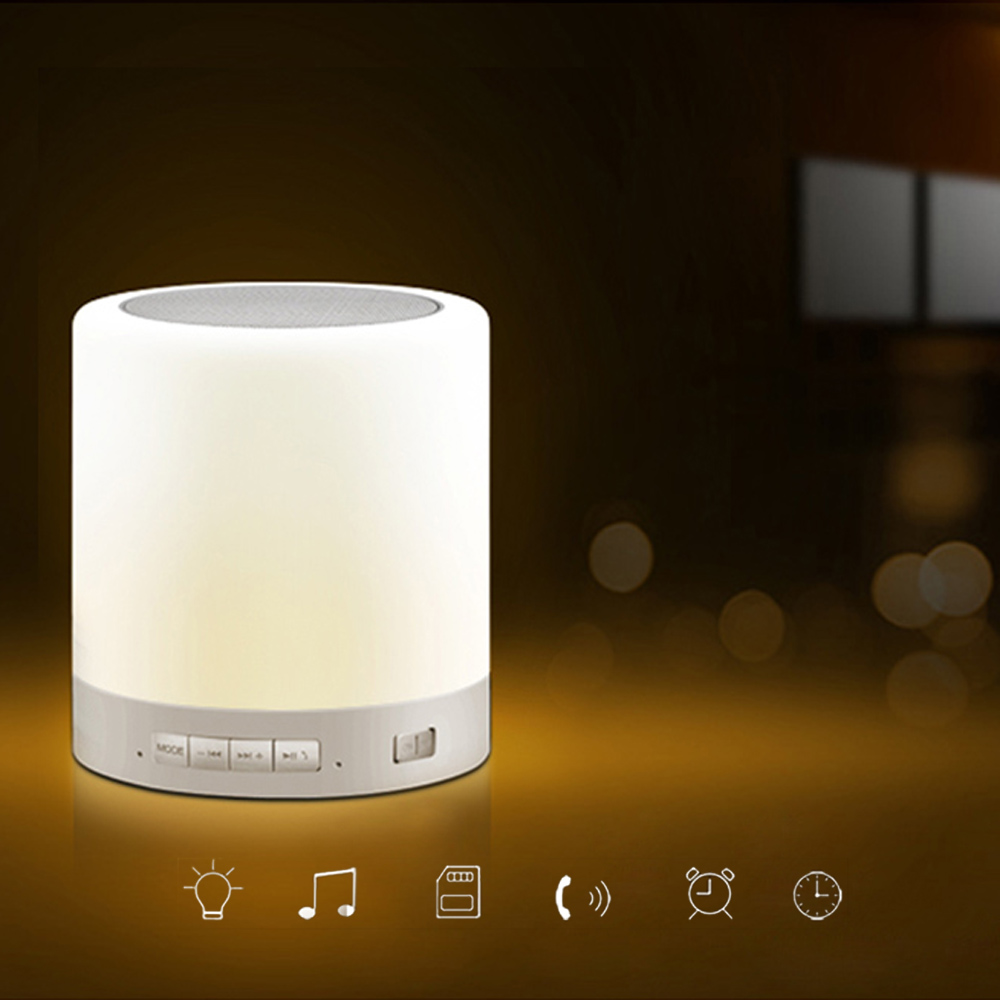Online Shop Warm White Touch Smart Bluetooth Speaker Led Lamp ...
