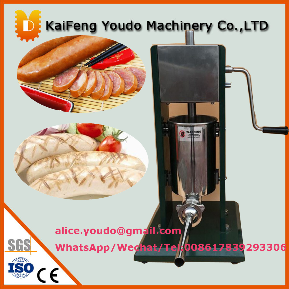 UD 500 usage domestique nouvelle conception portable opération manuelle en acier inoxydable 5L verticale saucisse remplisseur machine prix/fabricant de saucisses