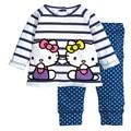 Hello Kitty Cotton Clothing Set Girls Spring Autumn Kids Clothes
