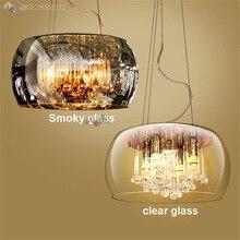 Modern Luxury Crystal Pendant lights Glass Lampshades lighting lamp for living room hotel bedroom kitchen hanging Light Fixtures цена в Москве и Питере