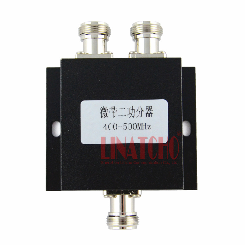 2 way <font><b>450MHz</b></font> RF power splitter 400-500MHz UHF two-way radio divider cdma signal repeater splitter image