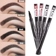 LULAA Waterproof Natural Eyebrow Pen Four-claw Eye Brow Tint Makeup Four Colors Eyebrow Pencil Brown Black Grey Brush Cosmetics