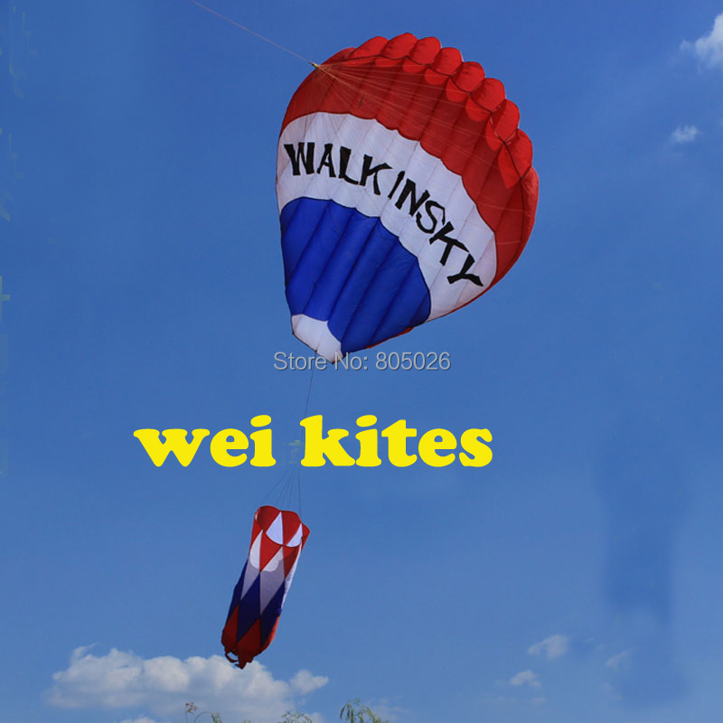 free shipping high quality new hot air balloon soft kite with handle line led fun red