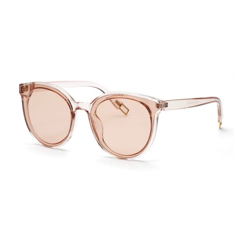 Fashion Cat Eye Sunglasses Women Brand Designer Twin-Beam Mirror Lens Sun Glasses Rose Gold UV400 Lens de sol Hombre New Sale