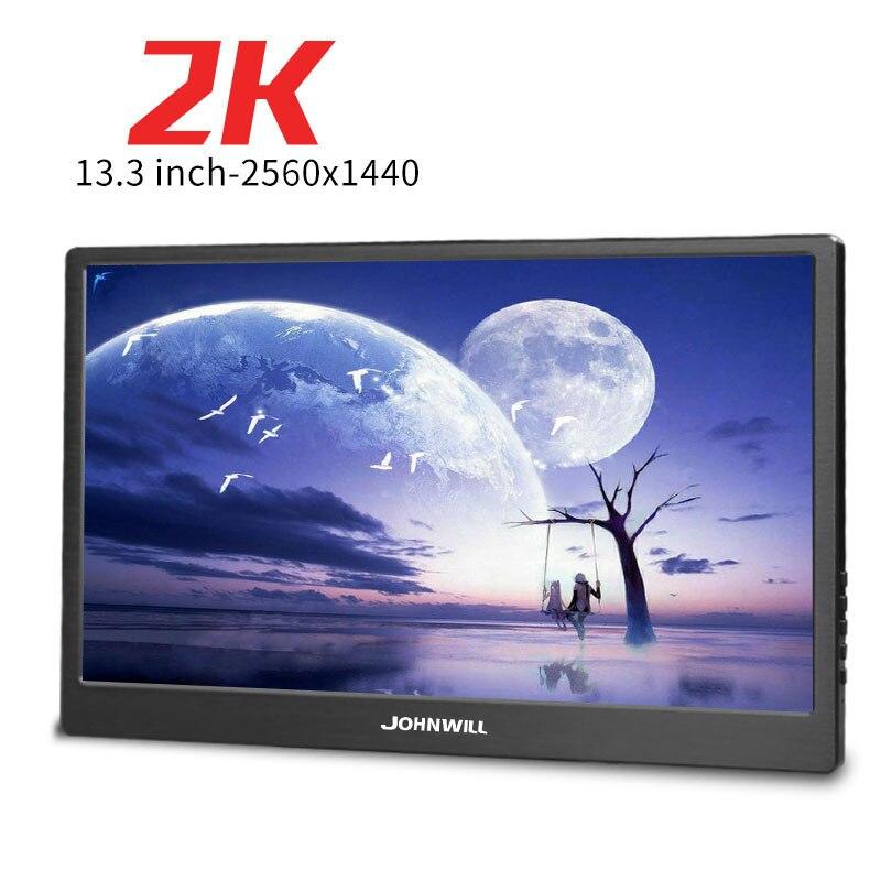 Nouveau 13.3 pouces ordinateur Portable 2560*1440 HD moniteur PC HDMI PS3 PS4 Xbox360 1080 P IPS écran LED lcd moniteur pour Raspberry Pi