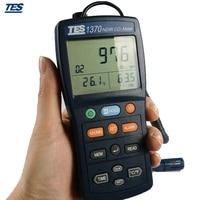 TES 1370 CO2 метр анализатор 0 6000ppm газ тестер