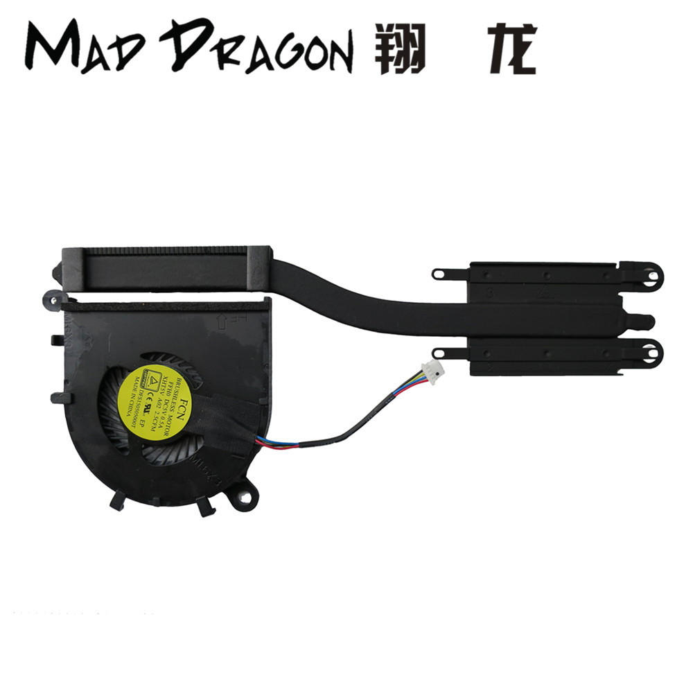 MAD DRAGON Brand laptop NEW CPU Heatsink Fan Assembly for Dell XPS13 9343 9350 9360 06YT3R