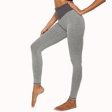 Yfashion Woman Knitting Seamless High Waist Pants Buttocks Lifted Training Hive Breathable Leggings Sweatpants Women